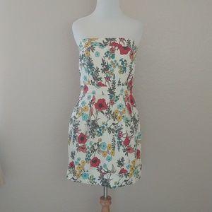 American Rag Strapless Floral short dress